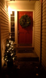 Christmas Countdown #24 = Outdoor lights