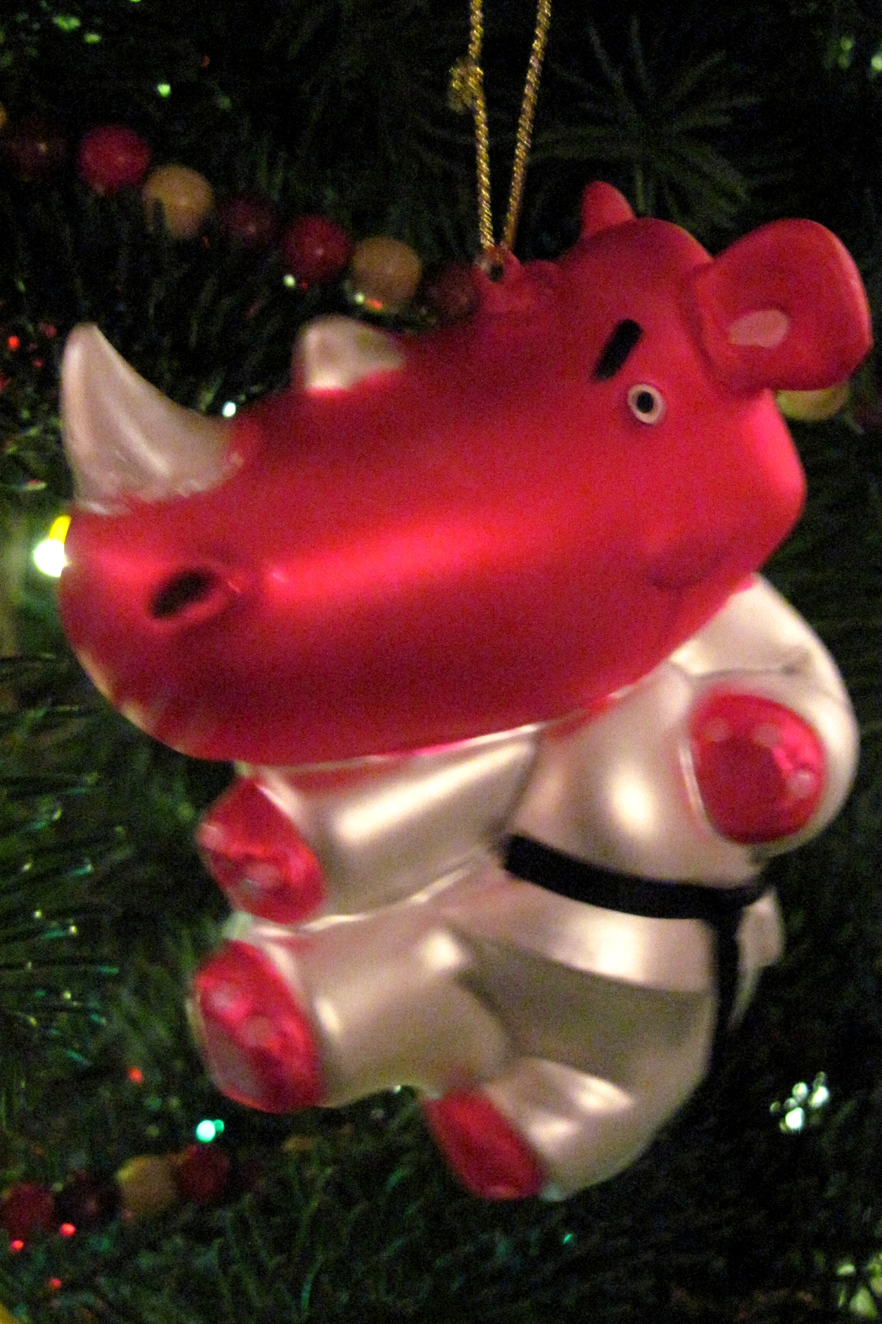 Pig christmas ornaments - We Got These Felt Ornaments In Budapest Back In 1990 The Mischievous Devil Boy Is Called The Krampusz He Travels With St Nicholas And Gives Switches Of