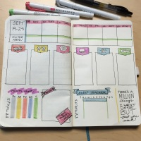 Bullet journal / GTD hybrid weekly